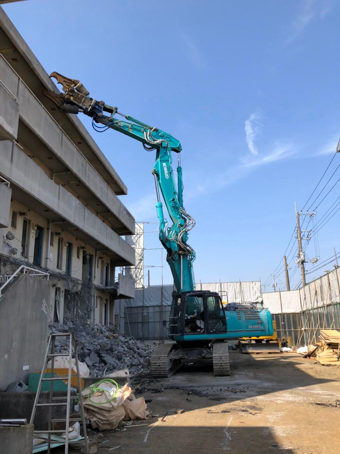 千葉県白井市   RC造600坪の解体を行いました