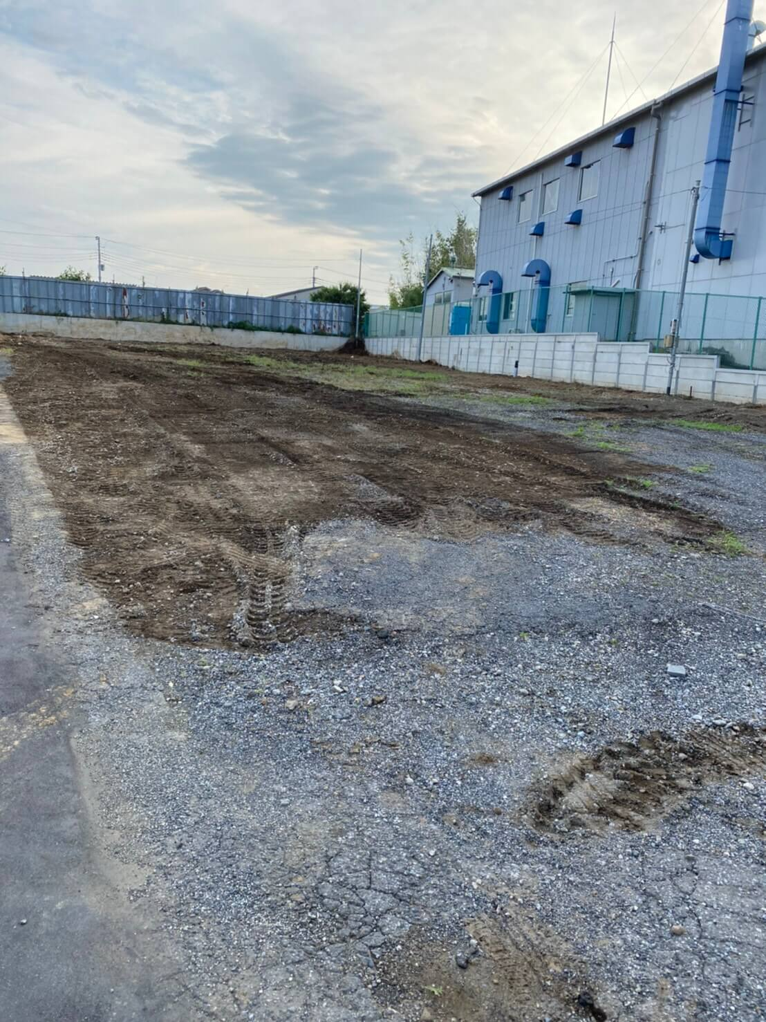 駐車場工事・砕石・砂